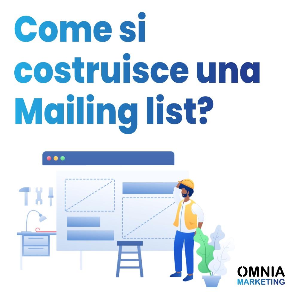 Come si costruisce una mailing list?